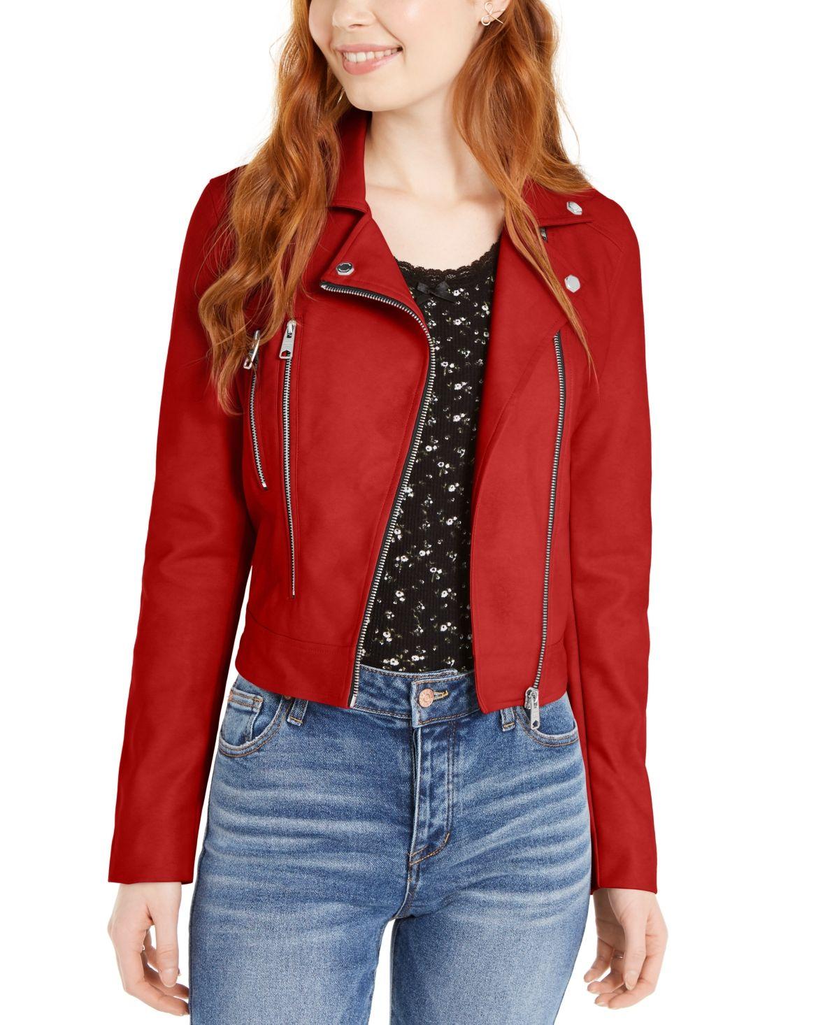 Coffeeshop Juniors Faux Leather Jacket Red Love Red Leather Jacket Outfit Leather Jacket Leather Jackets Women [ 1466 x 1200 Pixel ]