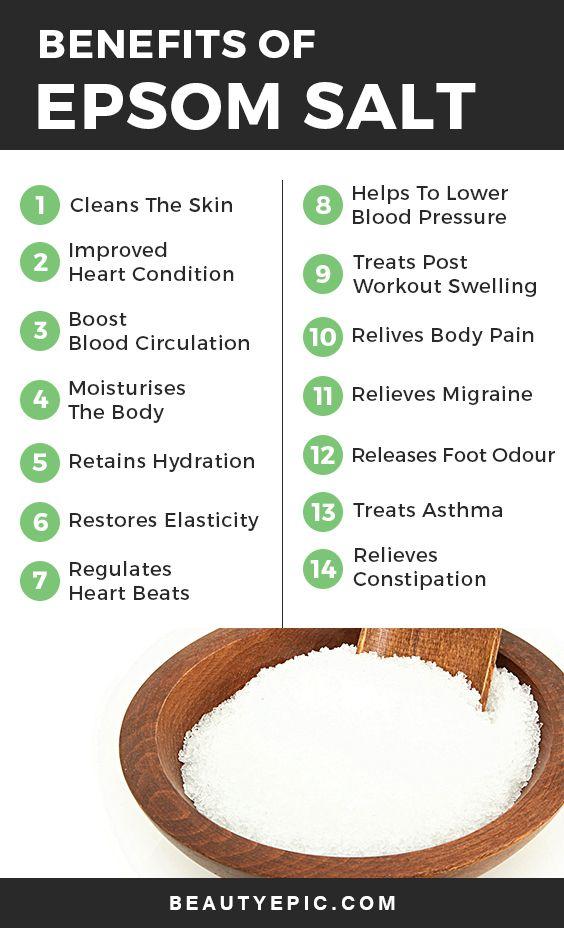 Epsom Salt Benefits And Uses Epsom Salt Benefits Coconut Health Benefits Health