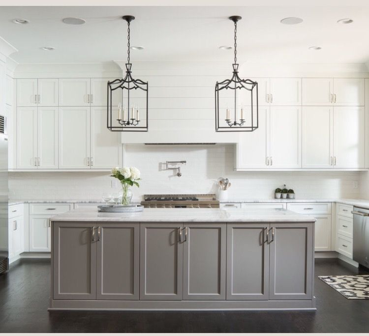 Large Open Concept Kitchen Design Ideas: Really Like This. High/tall Shaker Cabinets. Island In