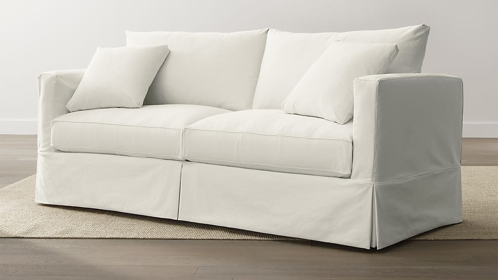 Willow White Slipcovered Sofa Reviews Crate And Barrel