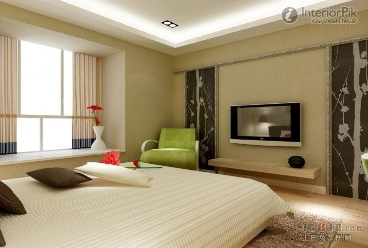 Master Bedroom Tv Background Wall Decoration Effect