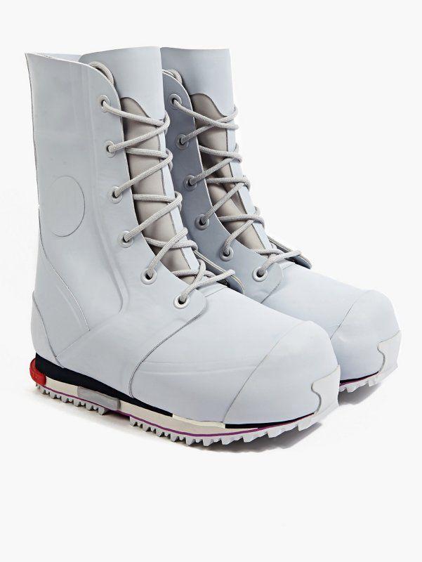 Adidas Originals x Raf Simons Men s Grey Bunny Rising Star 2 Boots   oki-ni 0ce96d2c3be