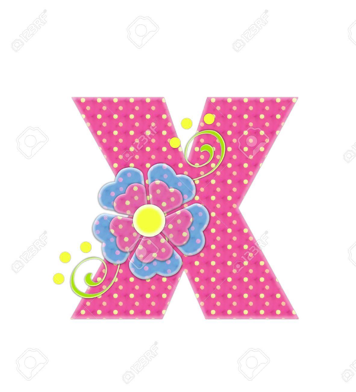 La letra X, en el alfabeto ajuste \