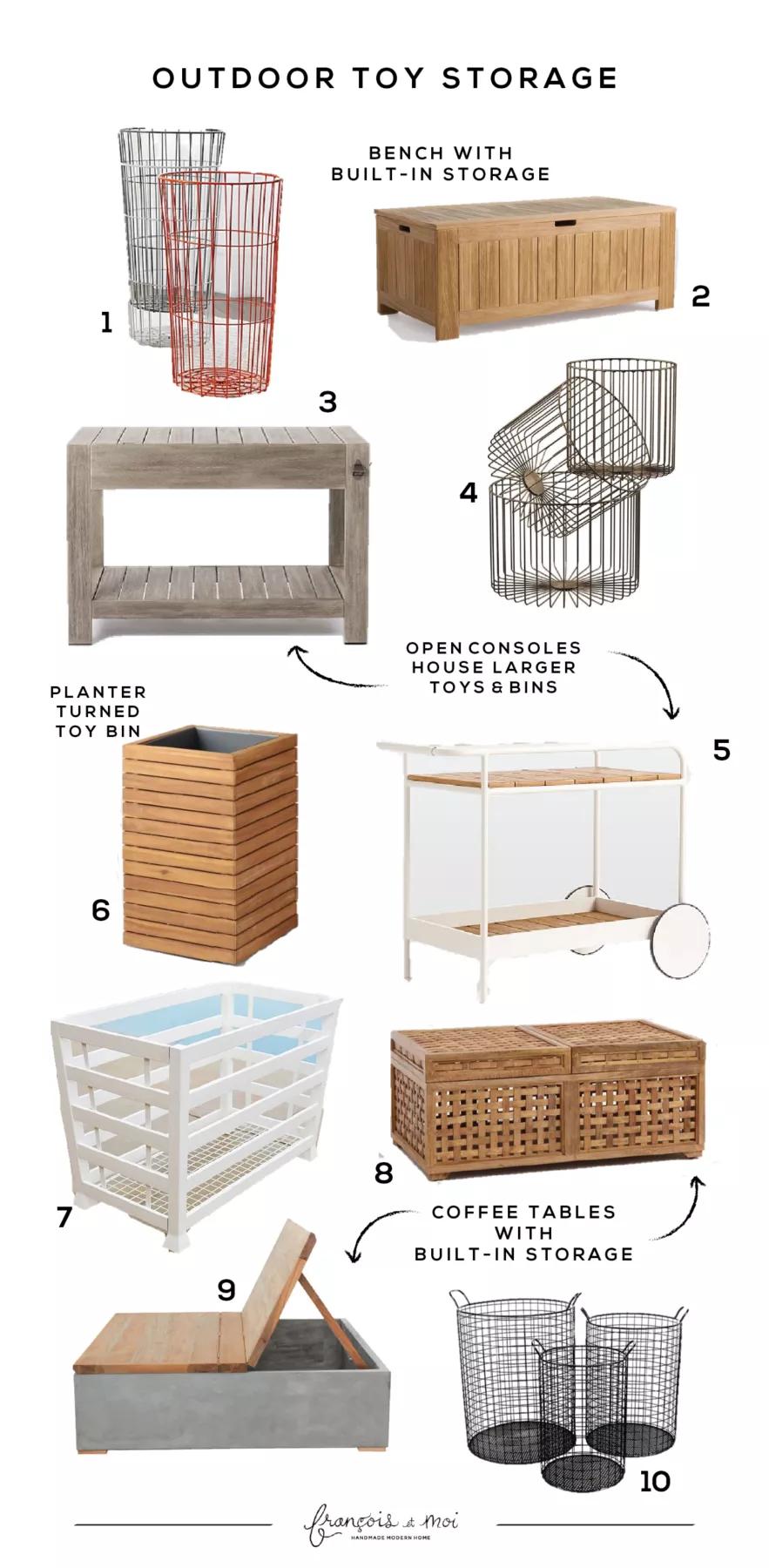 10 Outdoor Toy Storage Ideas - Francois et Moi
