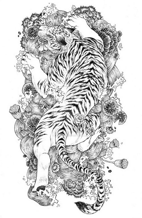 Traditional Japanese Tattoo Patern Tiger Tattoo Design White Tiger Tattoo Japanese Tiger Tattoo
