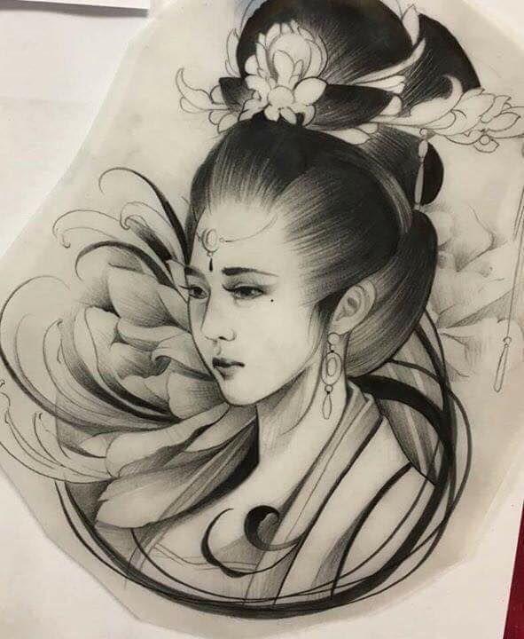 Desenhos De Gueixas Facebook Leandro Carlos Tattoo Instagram