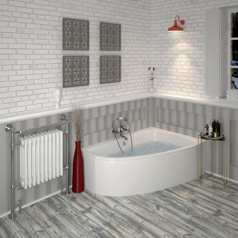 Low Price £279 Clia Right Hand Offset Corner Bath, Panel-comes with ...