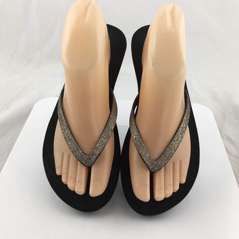 040cf3550a82cf Reef Star Cushion Glitter Flip Flops thong sandals Womens Size 6   7 M   Reef  FlipFlops  Casual