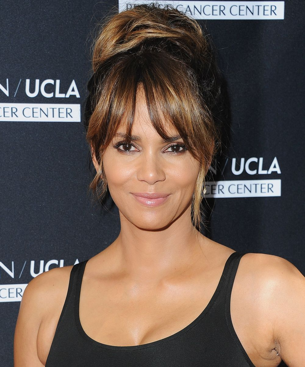 photos that prove easy versatile bangs exist halle berry from
