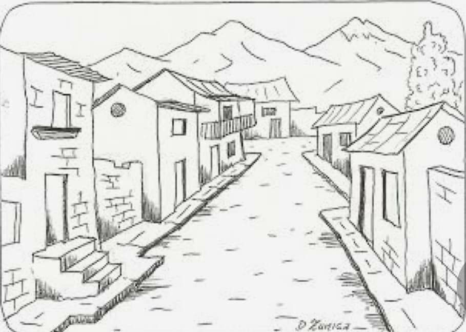 Pin By Yorleny Palacios On Patrones Bordado Perspective Art Colouring Pages House Colouring Pages