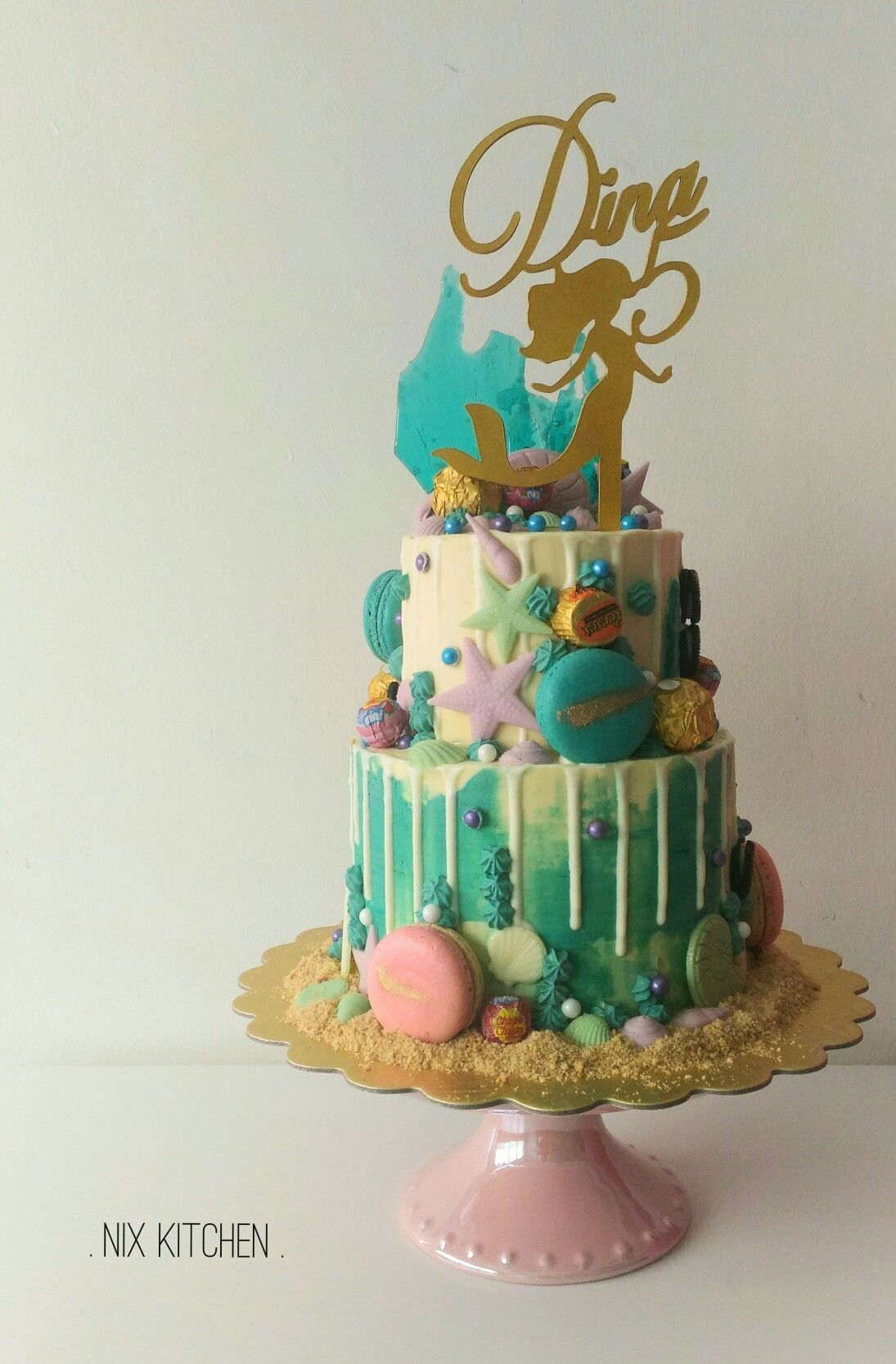 Under The Sea Mermaid Theme Cake