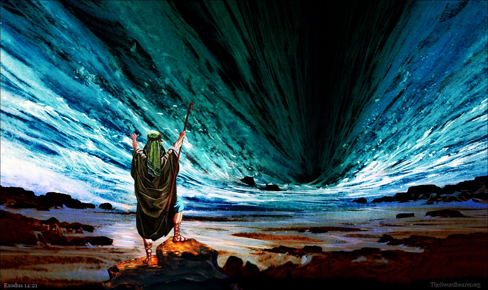 Moses, Ten Commandments, And Red Sea Wallpapers.