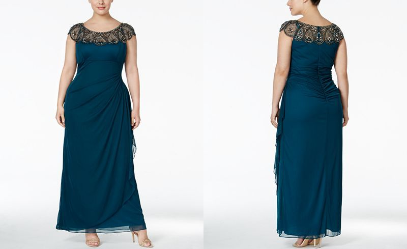 Xscape Plus Size Illusion Beaded Gown | Illusions, Gowns and Woman