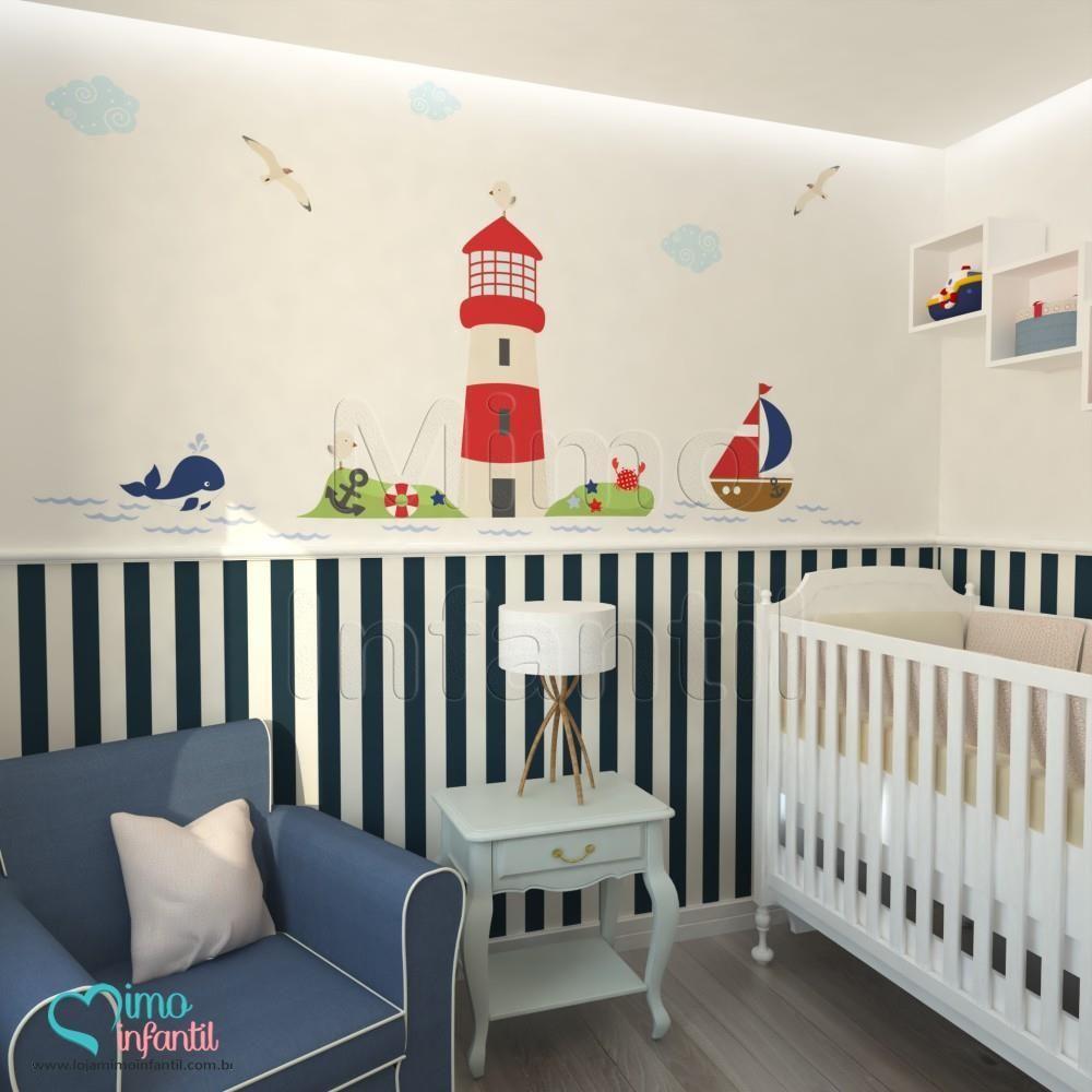 Artesanato Tecido ~ Adesivos para quarto de beb u00ea Marinheiro MIMO INFANTIL Inspirações! Pinterest Adesivos