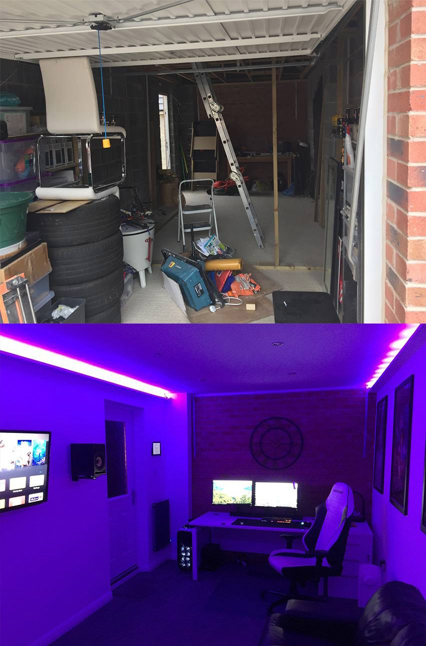 This Is Why I Converted My Garage Into A Gaming Room Garage Game Rooms Game Room Family Room