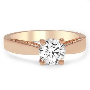 Taper And Pave Diamond Ring Brilliantearth Custom