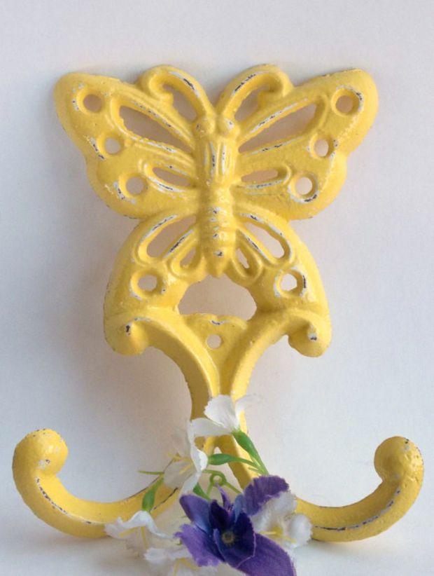 Butterfly Hook - Wall Art - Shabby Chic - Garden Decor | Butterflies ...