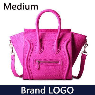 Aliexpress.com: Comprar Caliente! 2015 marca de lujo del diseñador clásico Nano Color sólido Smiley cruzada cuerpo Tote bolsa mujeres, cara de la sonrisa de la señora 148 de bolso chico fiable proveedores en Moti