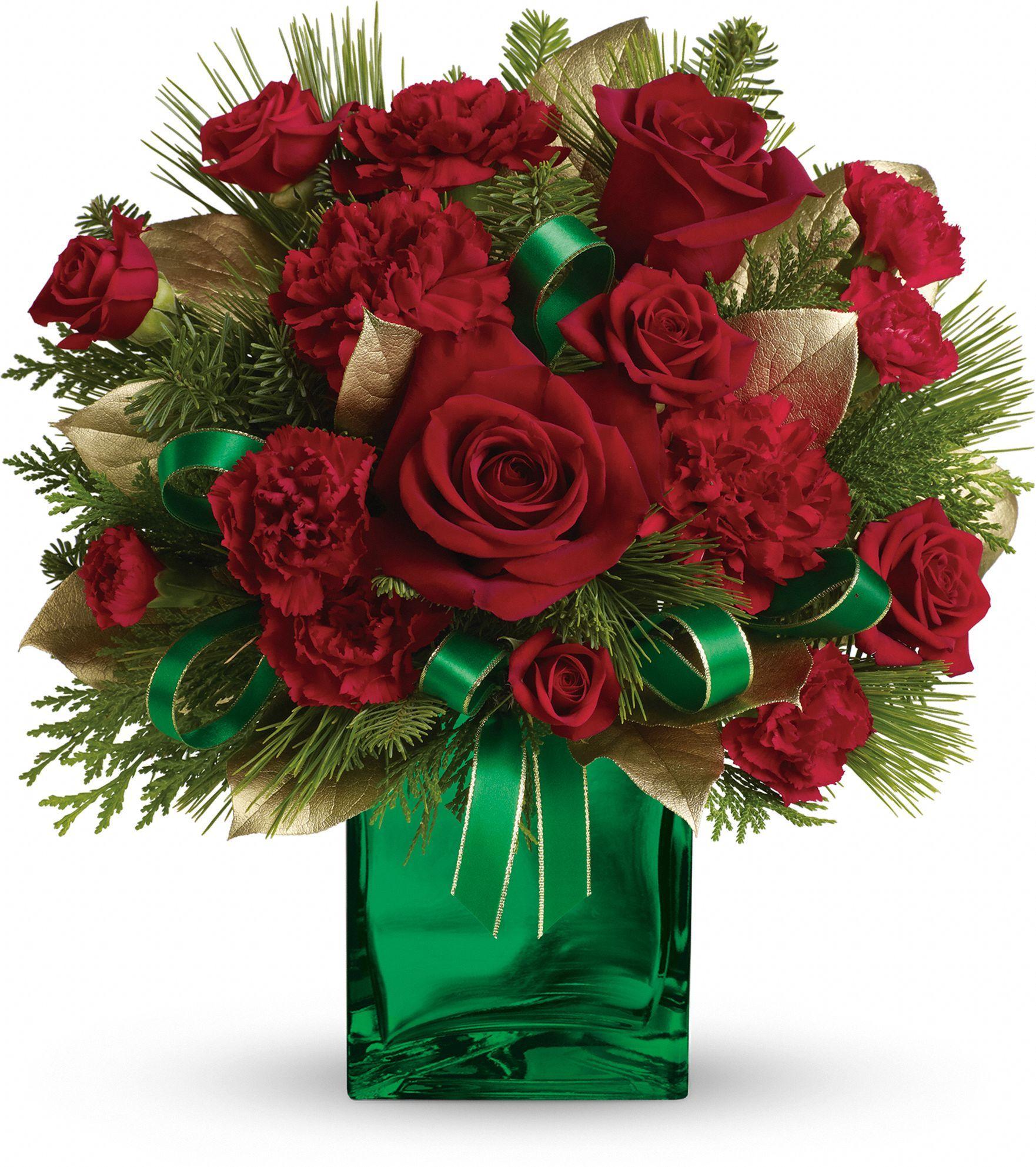 Teleflora's Yuletide Spirit Bouquet Carnation wedding