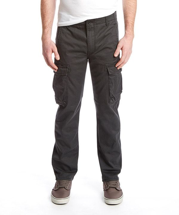 Look at this Levi's Slim Straight Cargo I Pants - Graphite Rinse on #zulily today!