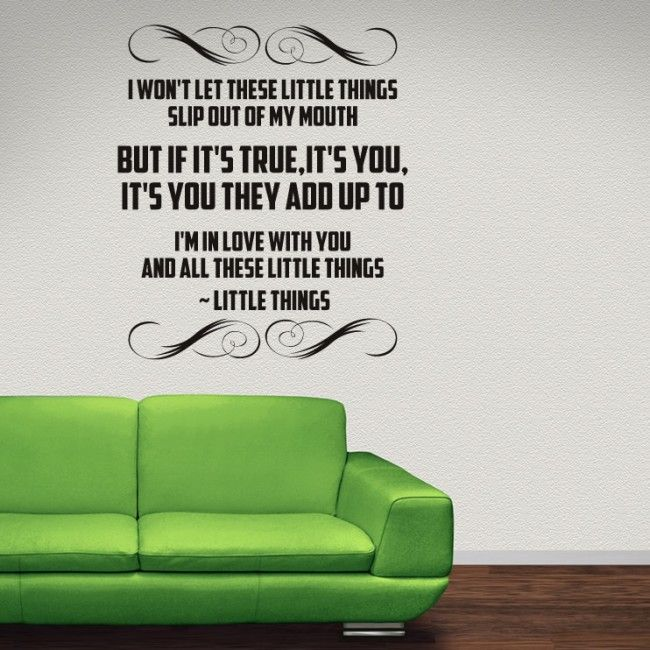One Direction Wall Stickers Little Things Wall Art #TheEnglishwords ...