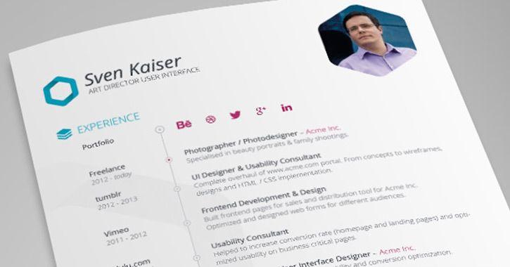Best Free Resume Templates For Designers (Vandelay Website Design