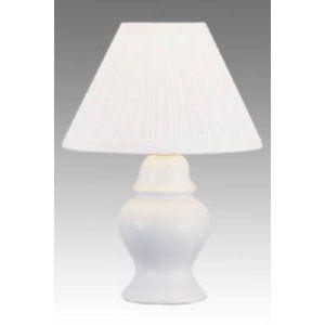 $20 Grandrich Corp 13' Wht Ginger Jar Lamp