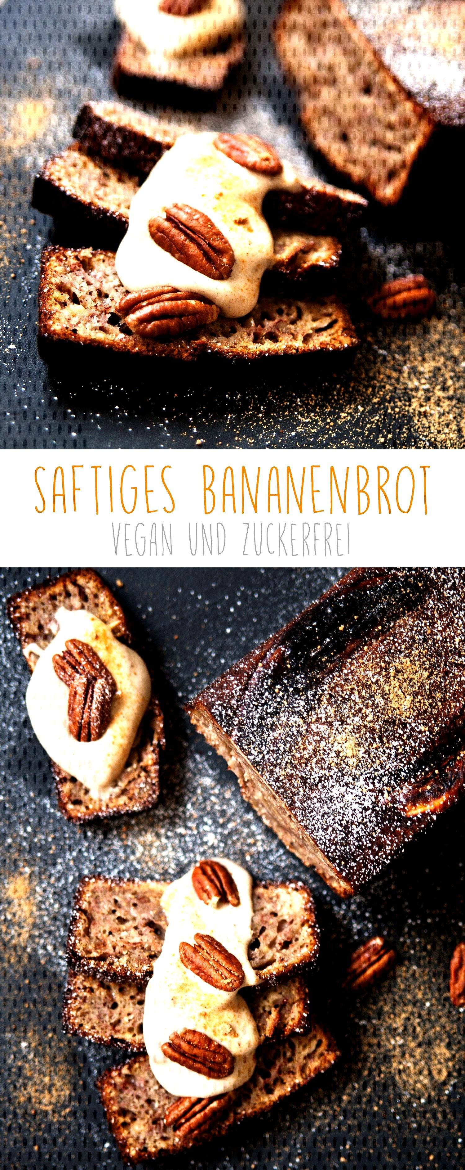 Vegan banana bread without refined sugar - -