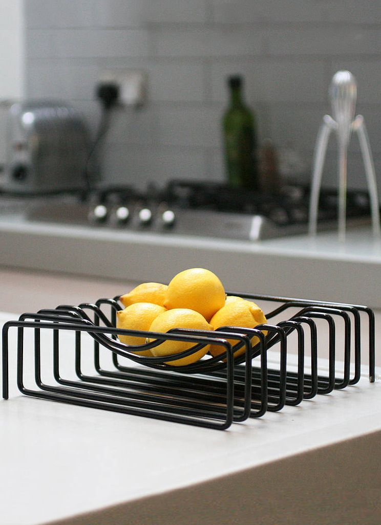 The Block Wire Fruit Bowl is a brilliant housewarming gift for the design conscious and a great new way to keep your fruits looking good, by themselves and in relation to your home!  - www.MyWonderList.com