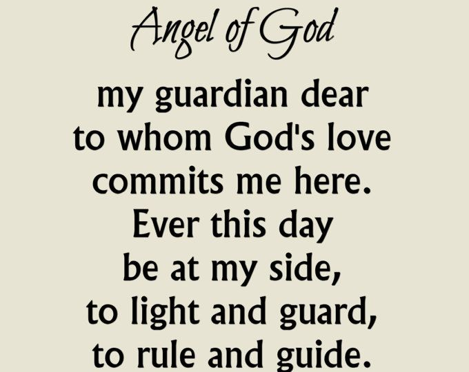 picture relating to Guardian Angel Prayer Printable referred to as Angel of God Prayer Print, Dad or mum Angel Prayer Print
