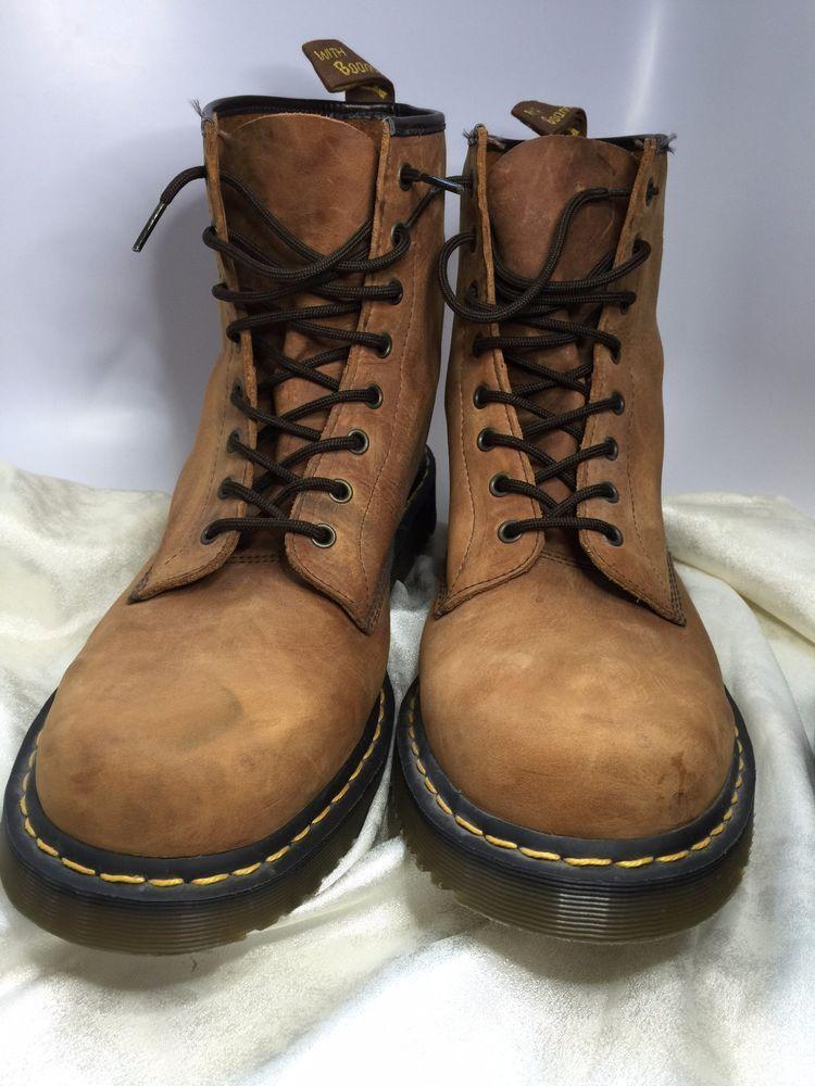 Dr Doc Martens Boots 1480 Nubuck Suede Brown Size 15 US