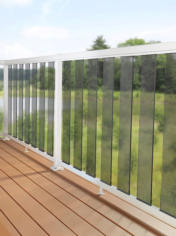 DIY Aluminum Railing System - 6 Inch Tinted Glass with ...
