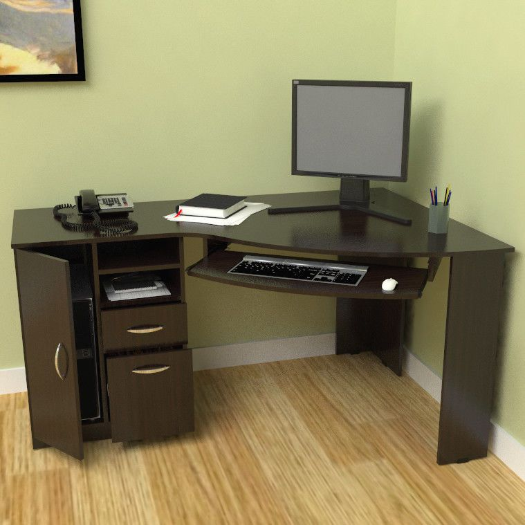 Computer Desk Workstation Corner L Shaped Home Office Gaming Table Stand Inval