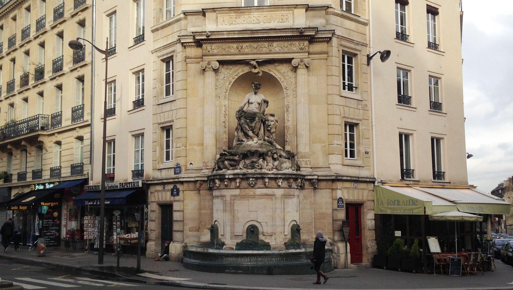 Fontaine Cuvier, Paris 05e, Jardin des Plantes, Histoire de Paris ...