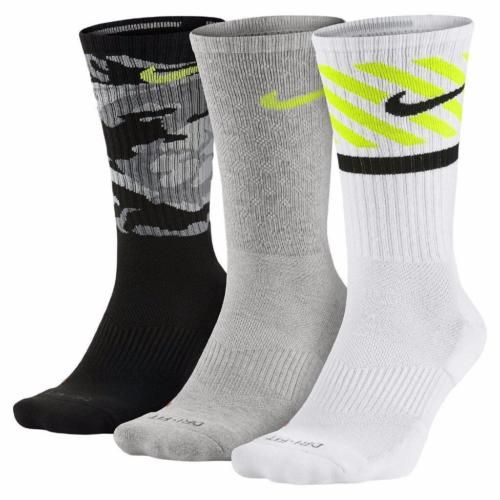 Nike Mens 6 8 Womens 6 10 3 Pk Swoosh Dri Fit Cotton Cushioned Crew Socks Camo Nike Men Active Wear For Women Nike Dri Fit