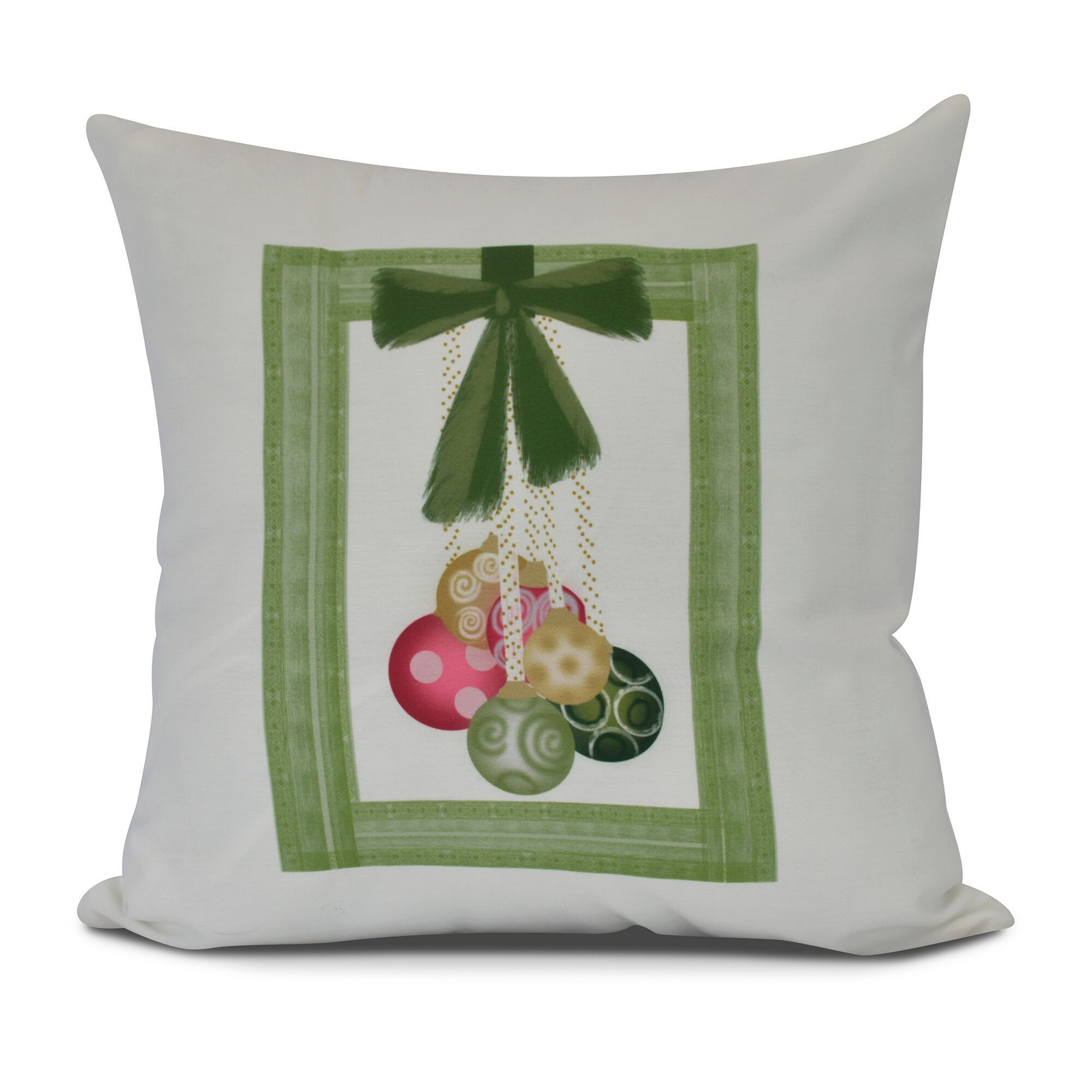E by design frame it up geometric print outdoor pillow green