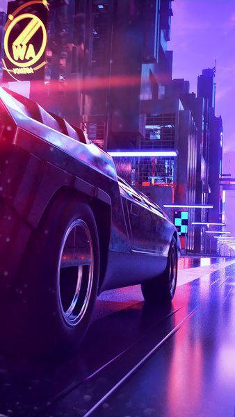 Neon City Car Retrowave Digital Art 4k Click Image For Hd Mobile And Desktop Wallpaper 3840x2160 1920x10 Future Wallpaper Vaporwave Vaporwave Wallpaper
