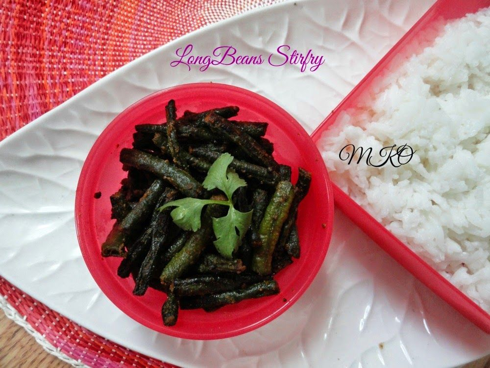 LongbeansStirfry.Simple curry to have with rice or roti