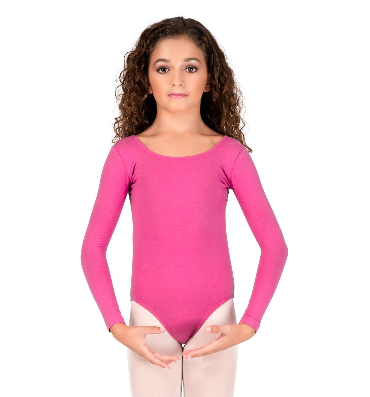 TIARA GALIANO Child Long Sleeve Round Neck Bodysuit Girl