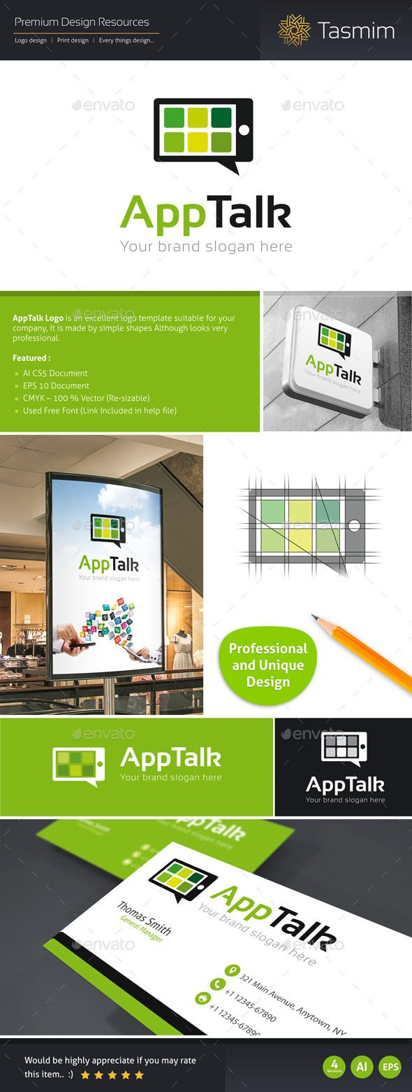 AppTalk Logo Template AppTalk Logo Template