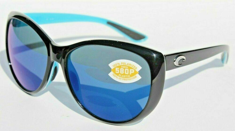07a90a1905a9 COSTA DEL MAR La Mar 580P POLARIZED Sunglasses Womens Black White Aqua/Blue  NEW #affilink #polarizedsunglasses #womensunglasses #mensunglasses ...