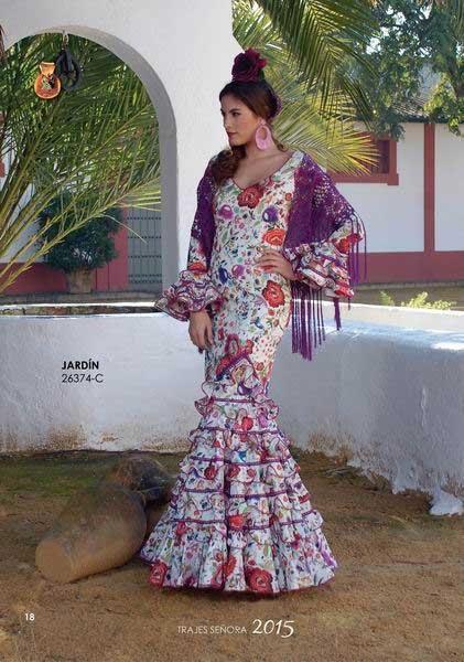 Traje de Flamenca. Jardin