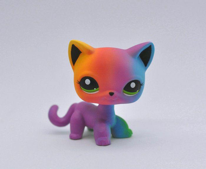 Littlest Pet Shop Custom Ooak Lps Short Hair Cat Color Hand Painted Figure Hasbro Lps Pets Lps Littlest Pet Shop Lps Toys