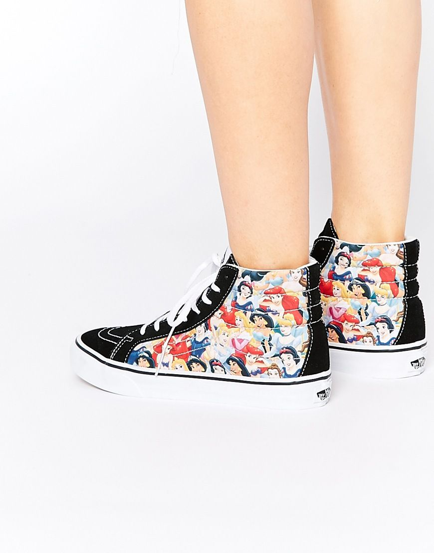 Image 1 of Vans SK8 Hi Slim Disney Princess High Top