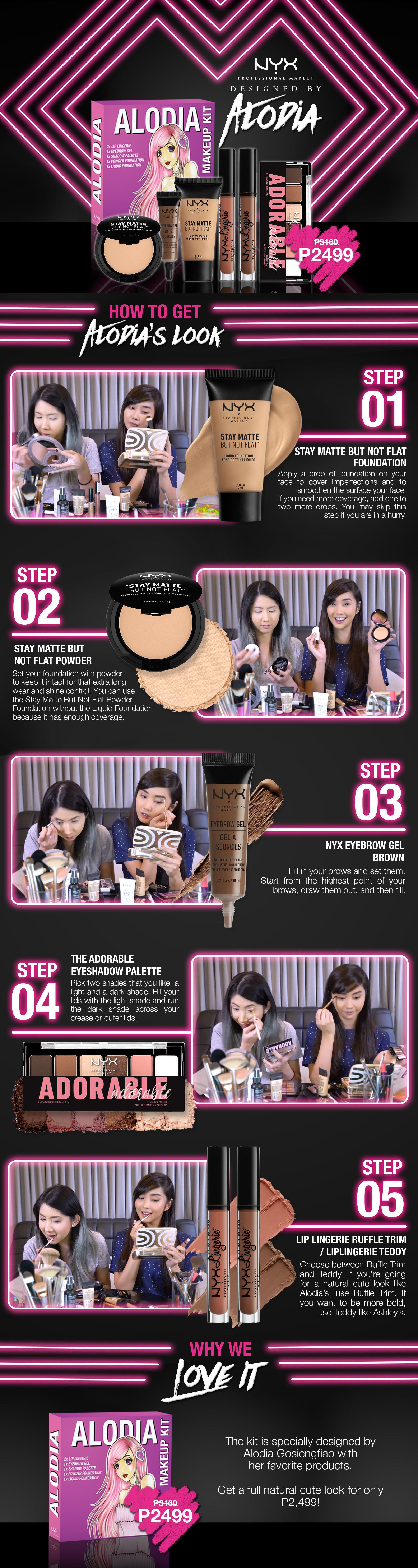 Alodia Gosengfiao NYX Makeup Kits are now available! Order