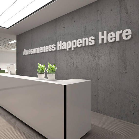 Best Awesome Office 3D Typography Wall Art Decor Pvc 400 x 300