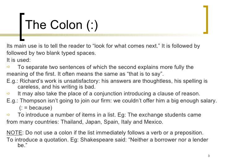 capital letter after colon capital letter after semicolon levelings capital letter after