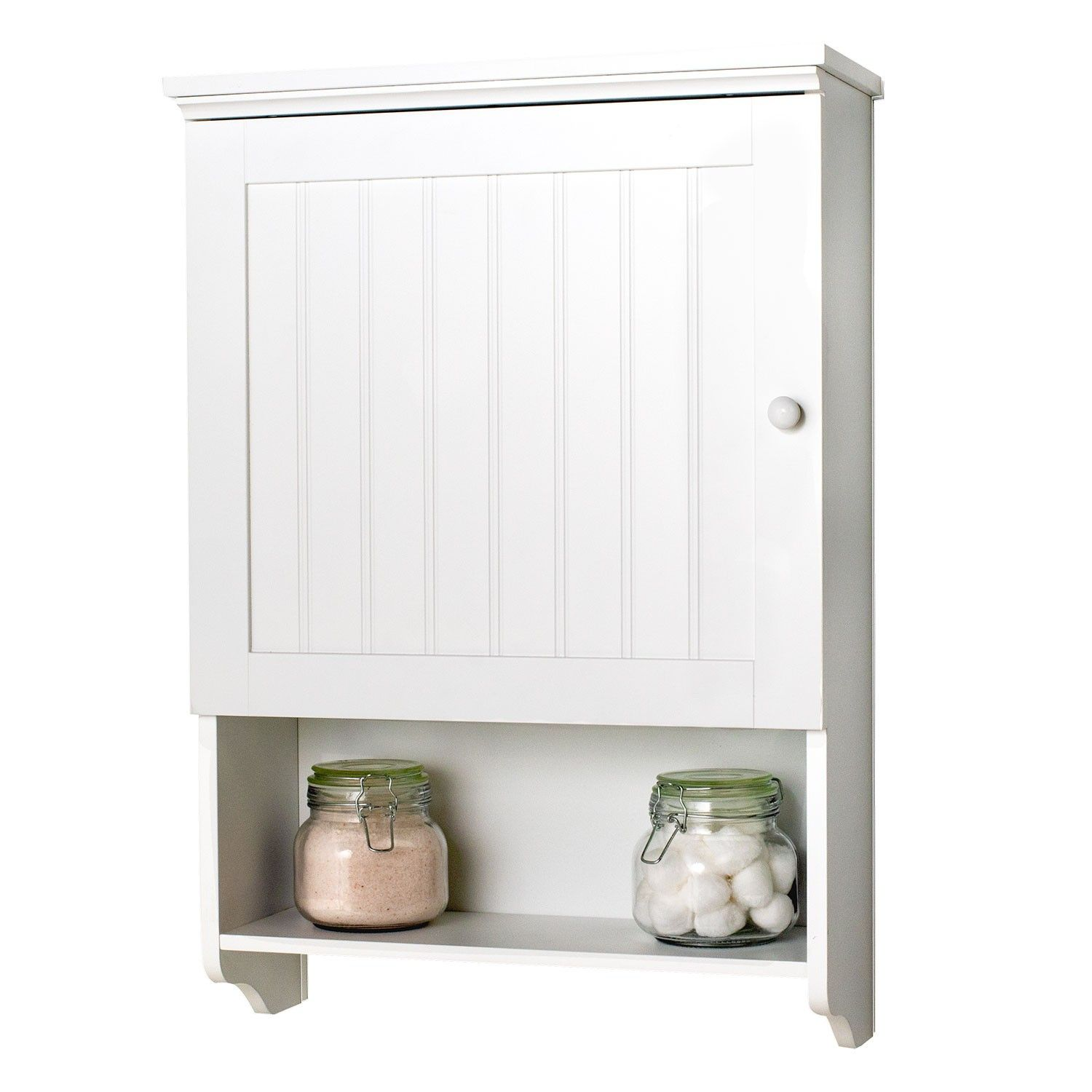 Bennington Country Cottage White Wall Mount Bathroom Medicine Cabinet Storage Organizer Bathroom Wall Storage Wall Storage Cabinets Bathroom Wall Storage Cabinets