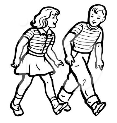 Image Result For Person Walking Clipart Black And White Graphic