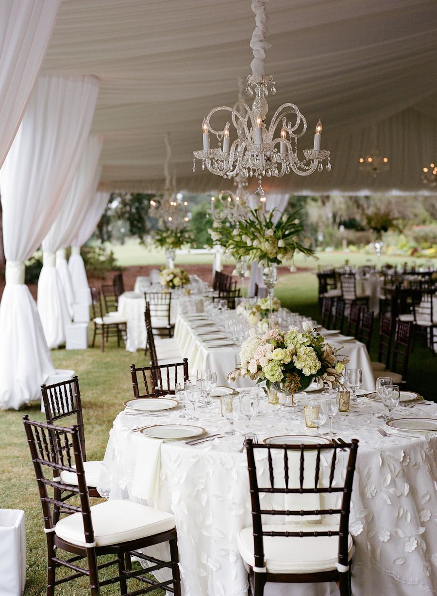 A Tented Southern Classic Full of Glamour Tent reception